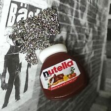 Unique NUTELLA NECKLACE handmade CHOCOLATE fab SPREAD hazelnuts CUTE! original