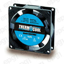 FAN AXIAL THERMOCOOL (80X80X25mm) 19/23 CFM SLEEVE 110V 60Hz #G8025HAS