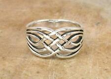 LARGE .925 STERLING SILVER WOVEN CELTIC KNOT RING size 6  style# r0787