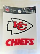 """Kansas City Chiefs 3 x 4"""" Small Static Cling - Truck Car Auto Window Decal NEW"""