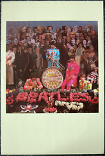 THE BEATLES POSTER PAGE 1967 SGT PEPPER LP CD ALBUM COVER OUTTAKE APPROX A3 . P2