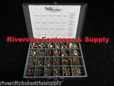 "Grade 8 Coarse Thread Bolt Nut & Washer Assortment 490pc 1/4"" 5/16"" 3/8"" & 1/2"""