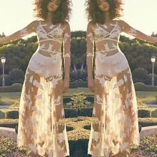 Summer Women Lace Crochet Bikini Cover Up Swimwear Bathing Suit Beach Dress L