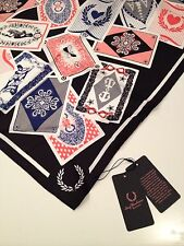 Fred Perry Amy Winehouse Silk Scarf Playing Cards Print BNWT