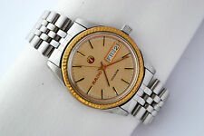 Vintage Rado Voyager Day Date Stainless Steel Automatic Mens Watch 694