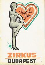 Zirkus Budapest Ungarn Programmheft Paprika Schau um 1966 Circus