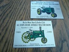 1993 1995 John Deere Antique Tractor Show - Two Cylinder Club Dash Plaques