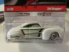 Hot Wheels Wayne's Garage Real Riders Tires Tail Dragger White
