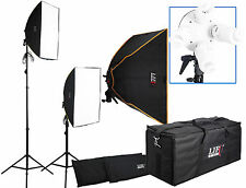 Iluminación Continua Foto Video Filmación 2 Estuche Acolchado Softbox Kit luz Bombillas