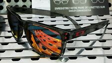 New Oakley 9244-04 HOLBROOK Asian Fit Sunglasses Gray Smoke w/Ruby Iridium Lens