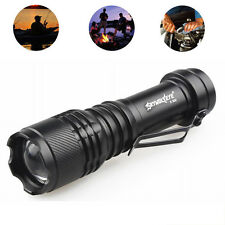 6000LM Focus Zoomable Tactical 3 Modes CREE XML T6 LED 14500/AA Flashlight