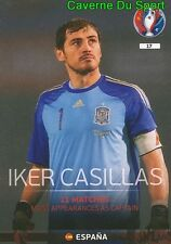 017 IKER CASILLAS ESPANA SPAIN TOP QUALIFIERS CARD ADRENALYN EURO 2016 PANINI
