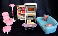 GLORIA FURNITURE SZ FAMILY ENTERTAINMENT ROOM W/Cushions PLAYSET DOLLHOUSE