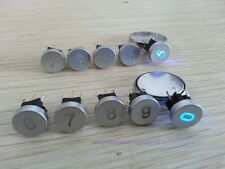 5pcs Blue Led Dia 10mm Cap Number 0  Momentary 12V Tact Push Button Switch