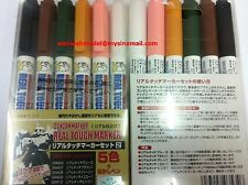 GSI Creos Mr.Hobby GMS113 Gundam Real Touch Marker Set 2(6 Colors Pen)