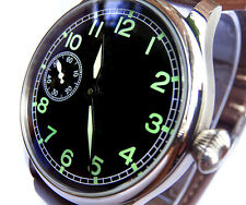 Vintage Style 44mm PILOT's Hand Wind 6497 Aviator's Army Military Steel Watch