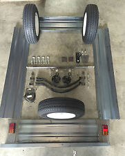 TRAILER PANEL KIT 2100x1200x320mm MILD STEEL WITH RUNNING GEAR WITH NEW TYRES