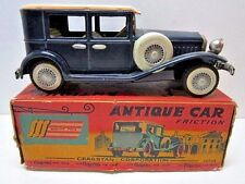 VINTAGE CRAGSTAN ANTIQUE TIN FRICTION TOURING LIMO CAR IN BOX MADE IN JAPAN TOY