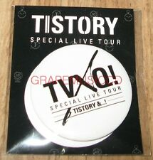 TVXQ! SPECIAL LIVE TOUR TISTORY OFFICIAL PIN BUTTON NEW