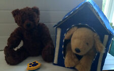 Build a Bear Stuffed Dog & Bear with House ,12 outfits & accessories  GREAT GIFT