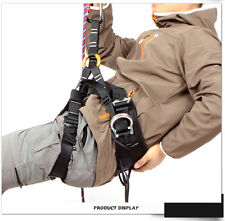 Professional Climbing Caving Sit Harness Gear Adjustable Rock Rescue Safety Belt