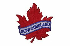 NEWFOUNDLAND RED MAPLE LEAF IRON-ON PATCH CREST BADGE.SIZE : 2.5 X 2.5 INCH..NEW