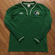 Vintage Umbro New York Cosmos Long Sleeve Jersey Size 44 Large Rare Soccer Green