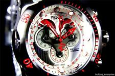 Mens Invicta Reserve Venom Swiss Master Calendar White Chronograph Watch New