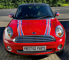 Union Jack bonnet stripes & rear number plate decal kit BMW Mini Cooper 2007