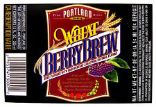 Portland Brewing WHEAT BERRY BREW beer label OR 12oz  9-state CRVs