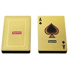 Cool Supreme 13FW Gold Deck of Playing Cards Supreme Playing Cards Game