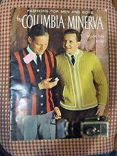 VINTAGE - COLUMBIA-MINERVA BOOK 749 - FASHIONS FOR MEN & BOYS - KNITTING BOOK