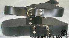 Basic Black Leather THIGH cuffs p266