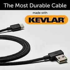ZUS Kevlar Reinforced USB-A to Micro USB Cable 4ft Life Time Warranty iPhone NEW