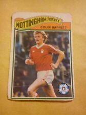 NOTTINGHAM FOREST FOOTBALL CLUB 1978 TOPPS CARD COLIN BARRETT # 76 OK CONDITION