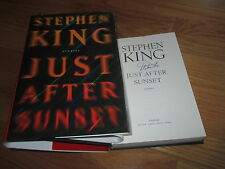 Horror Author STEPHEN KING signed JUST AFTER SUNSET 2008 Hard Cover Book COA
