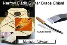 "MusicianAtHeart 1/8"" Curved Blade GUITAR BRACE CHISEL Bent Blade Luthier Tool"