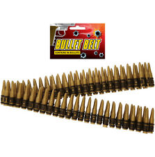 96 PLASTIC GOLD BULLET BELT DIE HARD ARMY RAMBO FANCY DRESS COSTUME ACCESSORY UK