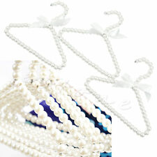 3Pcs Plastic Pearl Bow Clothes Hangers For Kid Children Fashion Small Hot