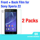 2x Nillkin 9H Tempered Glass Front & Back Screen Protector f Sony Xperia Z2 L50