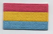 Embroidered PANSEXUAL PRIDE Flag Iron on Sew on Patch  HIGH QUALITY APPLIQUE