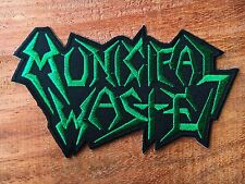Municipal Waste Sew Iron On Patch Embroidered Rock Band Crossover Thrash Metal