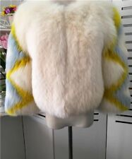 Rare New White Color Fox Fur Coat Jacket