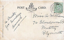 Genealogy Postcard - Family History - Williams - Mutley - Plymouth - Devon U3367