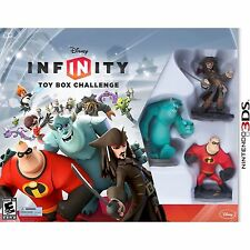 NEW Disney Infinity Nintendo 3DS Toy Box Challenge Video Game Starter Pack N3DS