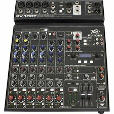 Peavey PV 10 BT 8-Channel Mixer w/ Bluetooth 3-Band EQ Bypass for Recording