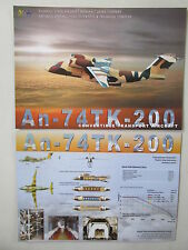 2000'S DOCUMENT 1 PAGE RECTO VERSO ANTONOV AN-74 TK-200 TRANSPORT AIRCRAFT