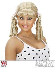 Ladies Blonde Wig With Bunches Naughty School Girl St Trinians Fancy Dress