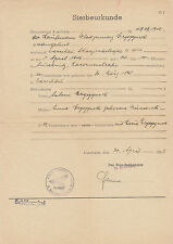 Concentration Camp Auschwitz death certificate 1942 VERY RARE +++