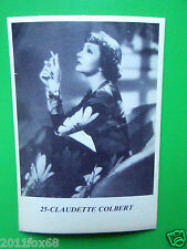 figurines actors cromos akteur figurine i miti di hollywood 25 claudette colbert